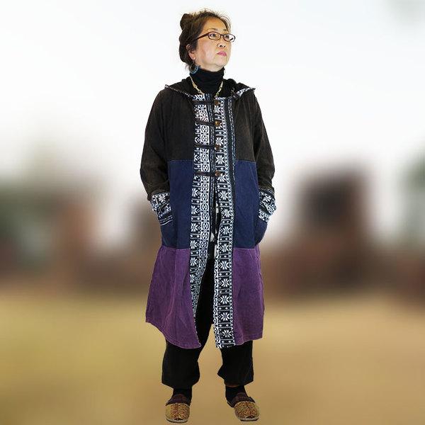 エスニックファッション!ダッフル風コート