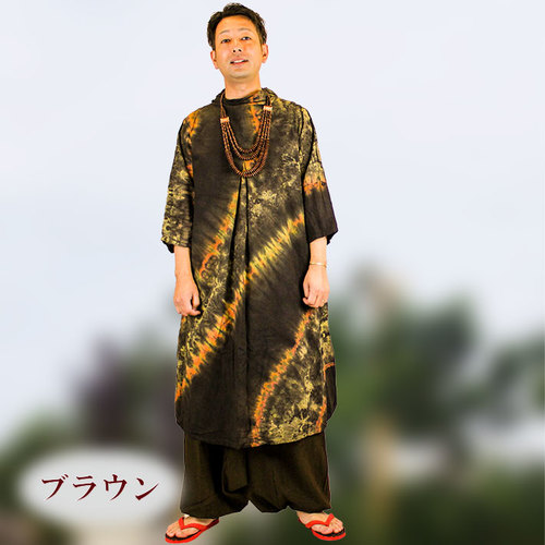 タイダイ柄ロングカットソー