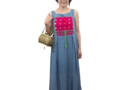 手編み バンブーハンドバッグ