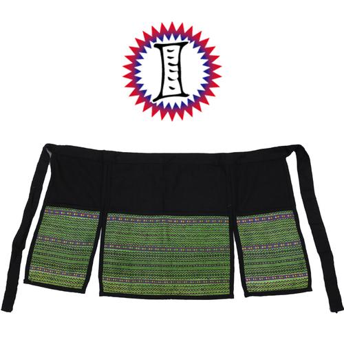 モン族刺繍のエスニックエプロン
